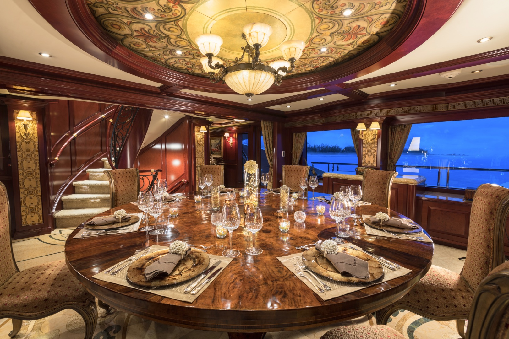 Trinity Yachts-164 Tri-deck Motor Yacht 2008-Amarula Sun Fort Lauderdale-Florida-United States-Formal Dining Salon-1513910 | Thumbnail