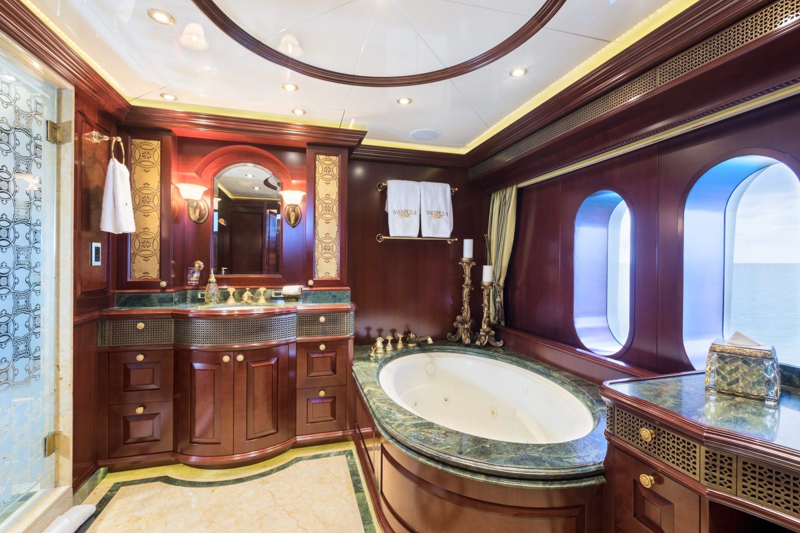 Trinity Yachts-164 Tri-deck Motor Yacht 2008-Amarula Sun Fort Lauderdale-Florida-United States-Master Suite Hers-1513925 | Thumbnail