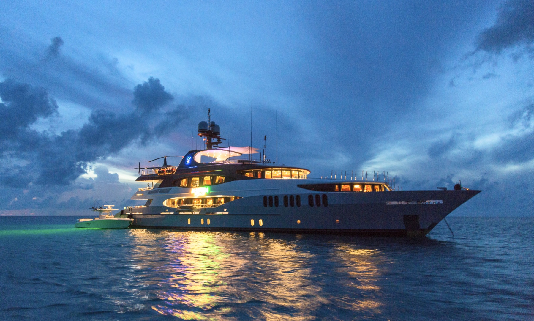 Trinity Yachts-164 Tri-deck Motor Yacht 2008-Amarula Sun Fort Lauderdale-Florida-United States-Starboard View At Dusk-1513955 | Thumbnail