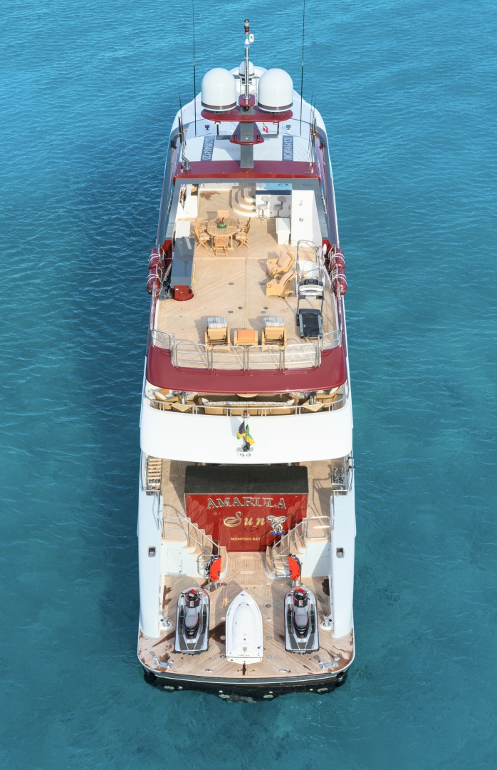 Trinity Yachts-164 Tri-deck Motor Yacht 2008-Amarula Sun Fort Lauderdale-Florida-United States-Aerial View Aft-1513903 | Thumbnail
