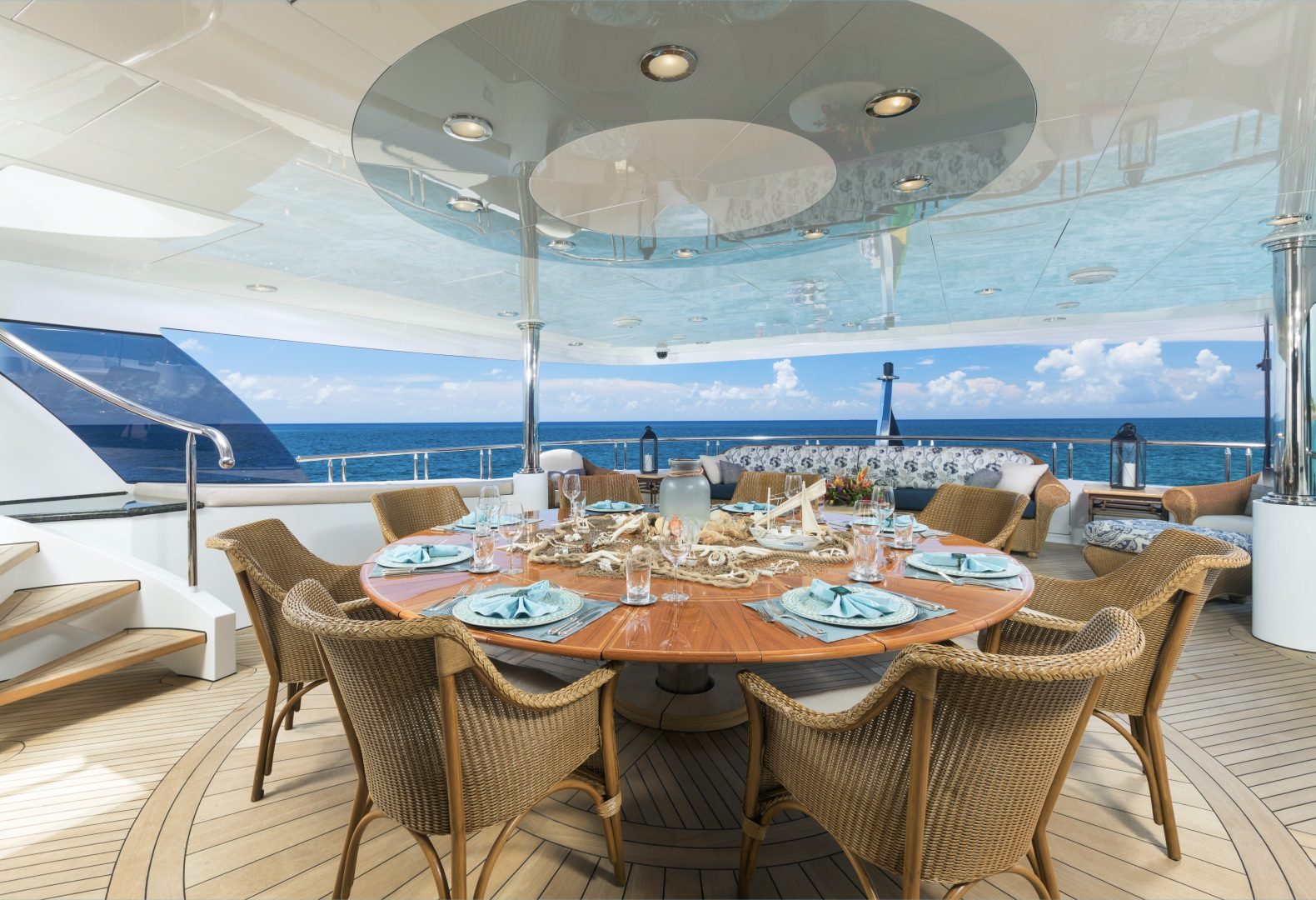 Trinity Yachts-164 Tri-deck Motor Yacht 2008-Amarula Sun Fort Lauderdale-Florida-United States-Alfresco Dining On Upper Deck-1513899 | Thumbnail
