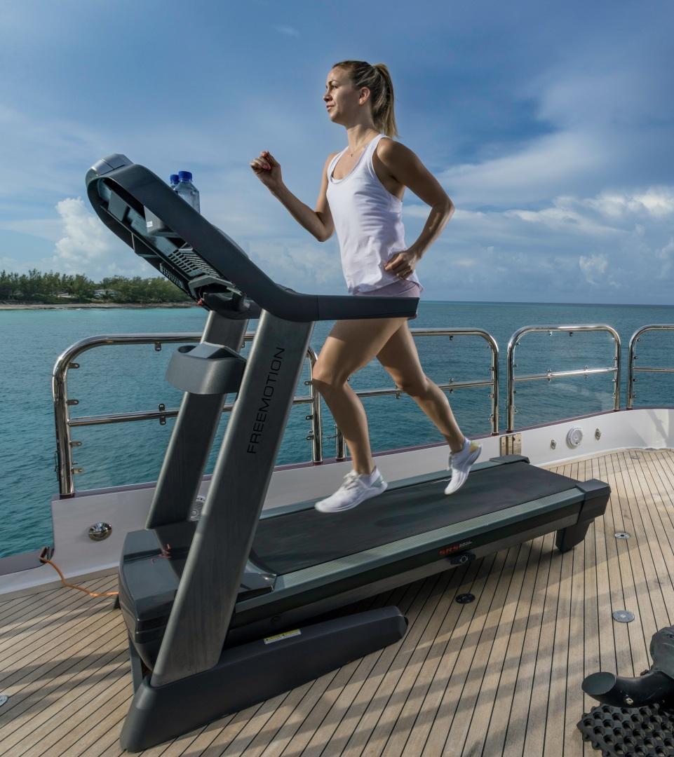Trinity Yachts-164 Tri-deck Motor Yacht 2008-Amarula Sun Fort Lauderdale-Florida-United States-Treadmill On Deck-1513962 | Thumbnail
