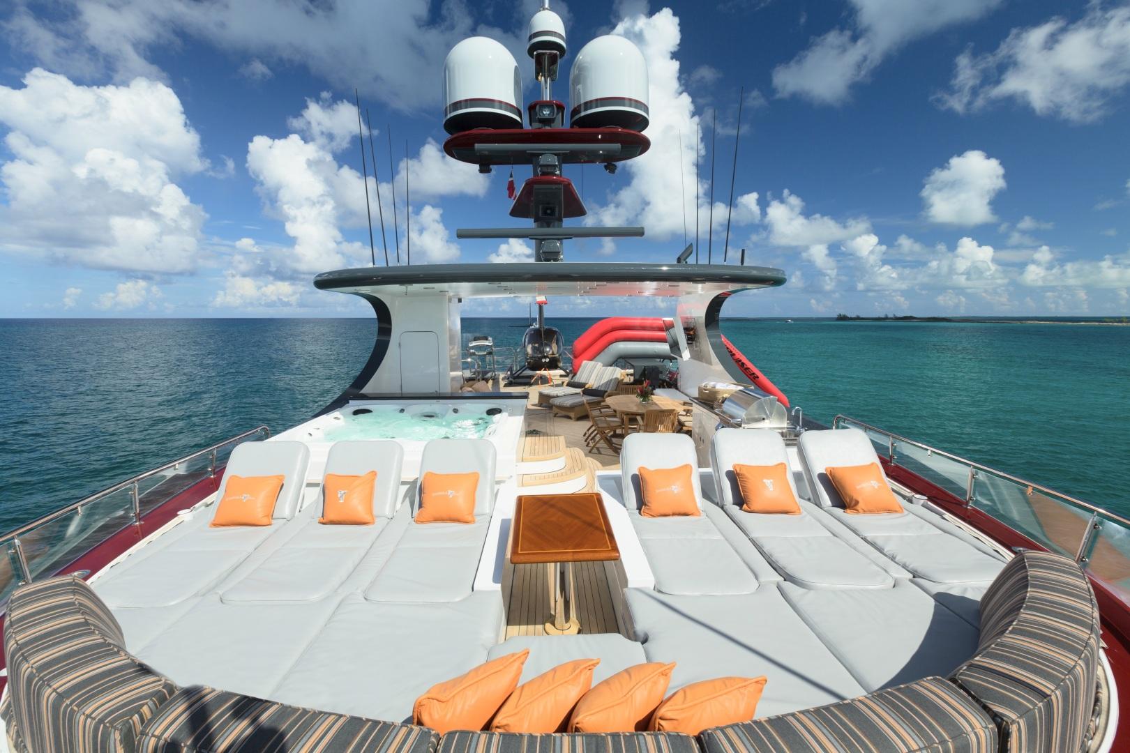 Trinity Yachts-164 Tri-deck Motor Yacht 2008-Amarula Sun Fort Lauderdale-Florida-United States-Sun Deck Lounge Area & Hot Tub-1513959 | Thumbnail