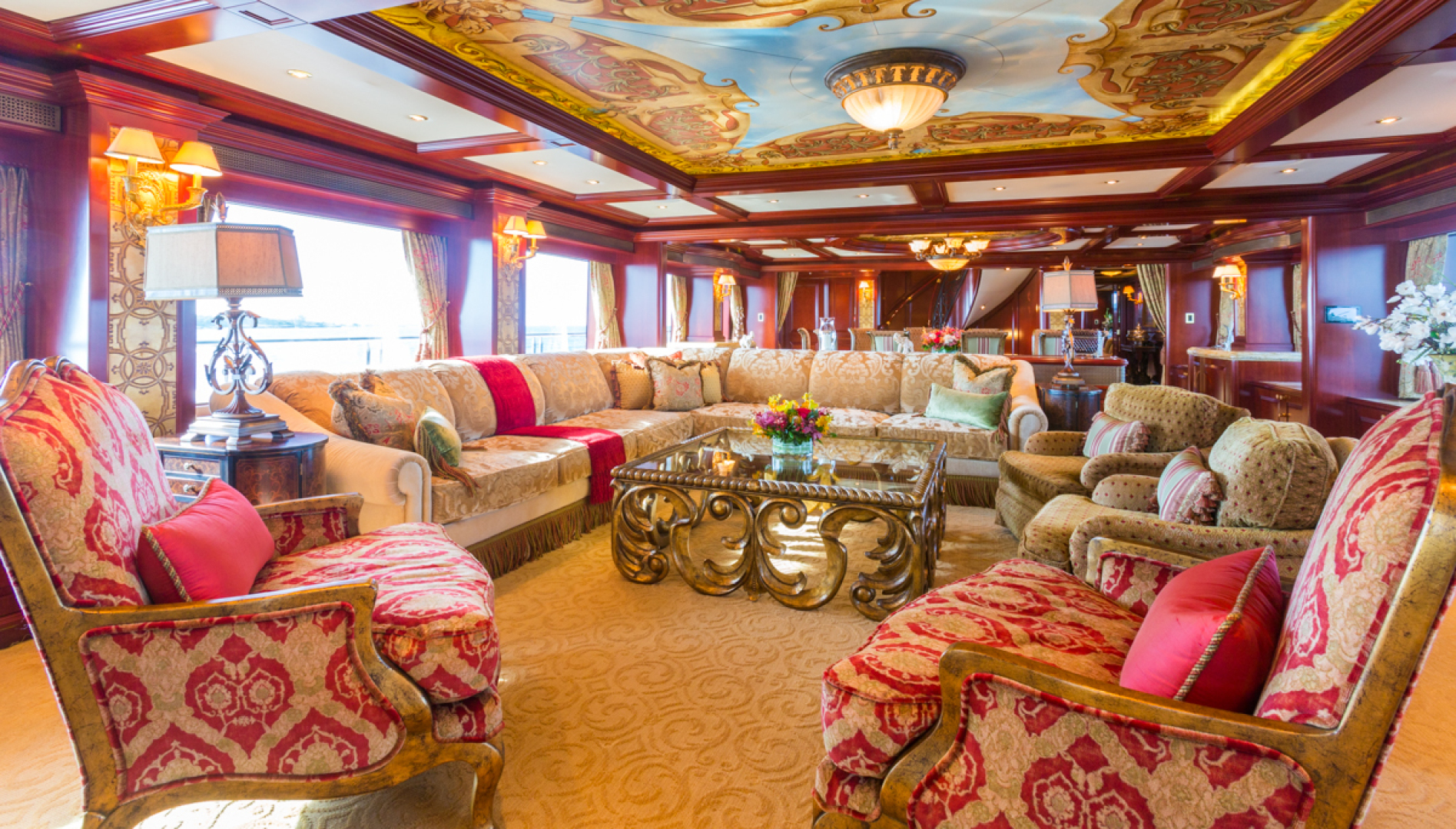 Trinity Yachts-164 Tri-deck Motor Yacht 2008-Amarula Sun Fort Lauderdale-Florida-United States-Main Salon Seating-1513921 | Thumbnail