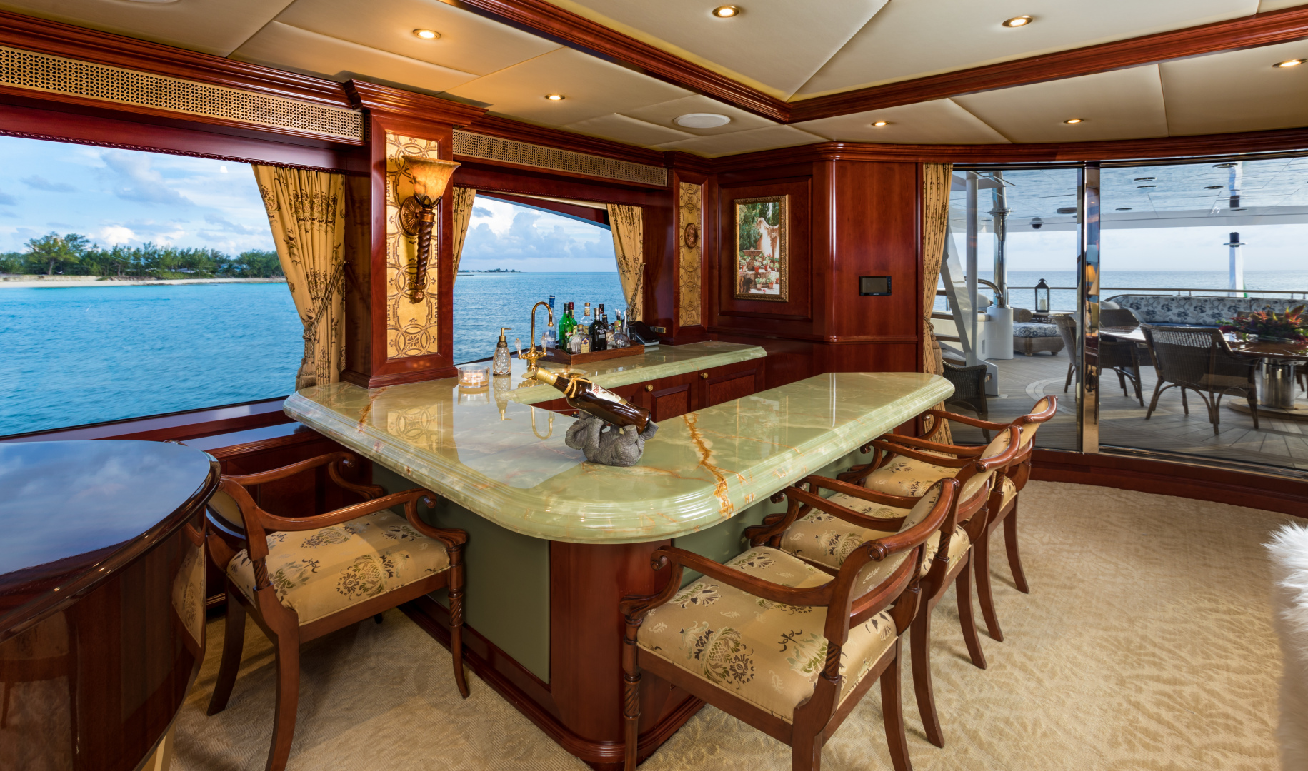 Trinity Yachts-164 Tri-deck Motor Yacht 2008-Amarula Sun Fort Lauderdale-Florida-United States-Skylounge Bar-1513951 | Thumbnail
