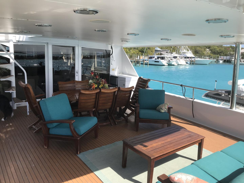 Broward-Custom Extended 1990-MON SHERI Fort Lauderdale-Florida-United States-Aft Deck Seating-1515072   Thumbnail