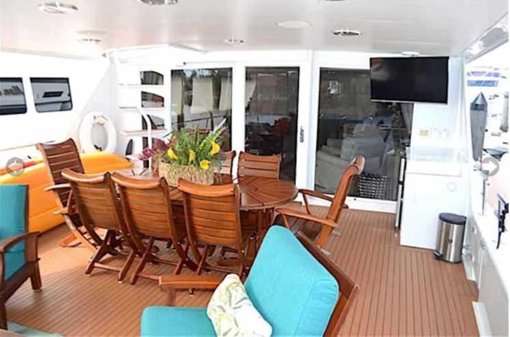 Broward-Custom Extended 1990-MON SHERI Fort Lauderdale-Florida-United States-Aft Deck Seating-1515073   Thumbnail