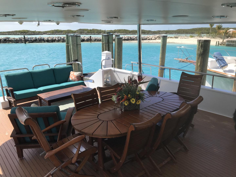 Broward-Custom Extended 1990-MON SHERI Fort Lauderdale-Florida-United States-Aft Deck Dining-1515074   Thumbnail