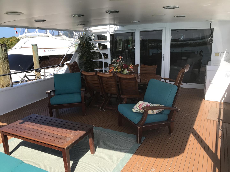 Broward-Custom Extended 1990-MON SHERI Fort Lauderdale-Florida-United States-Aft Deck Seating-1515071   Thumbnail