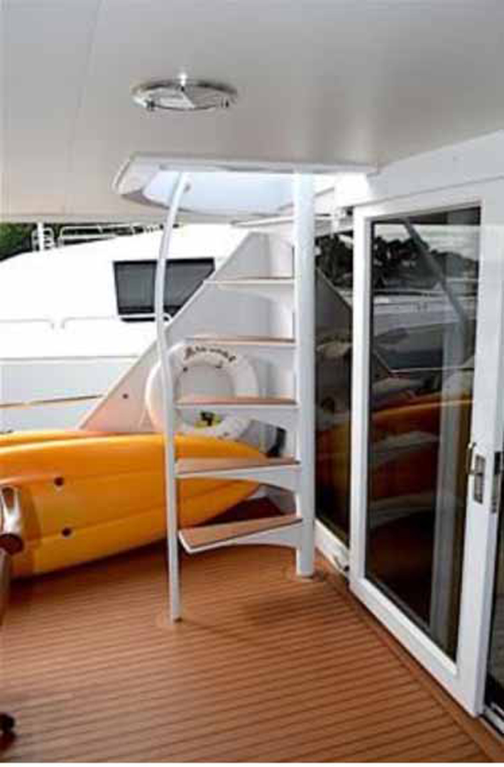 Broward-Custom Extended 1990-MON SHERI Fort Lauderdale-Florida-United States-Aft Deck Boat Deck Stairs-1515098   Thumbnail