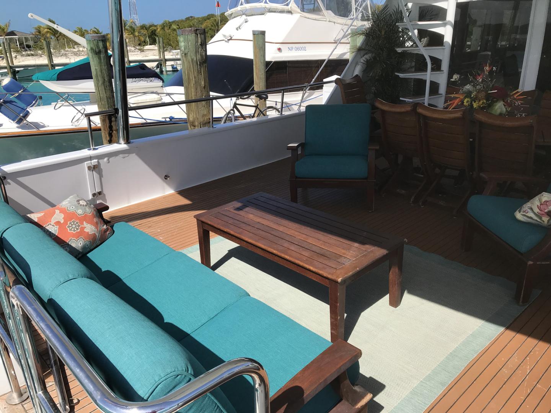 Broward-Custom Extended 1990-MON SHERI Fort Lauderdale-Florida-United States-Aft Deck Seating-1515070   Thumbnail