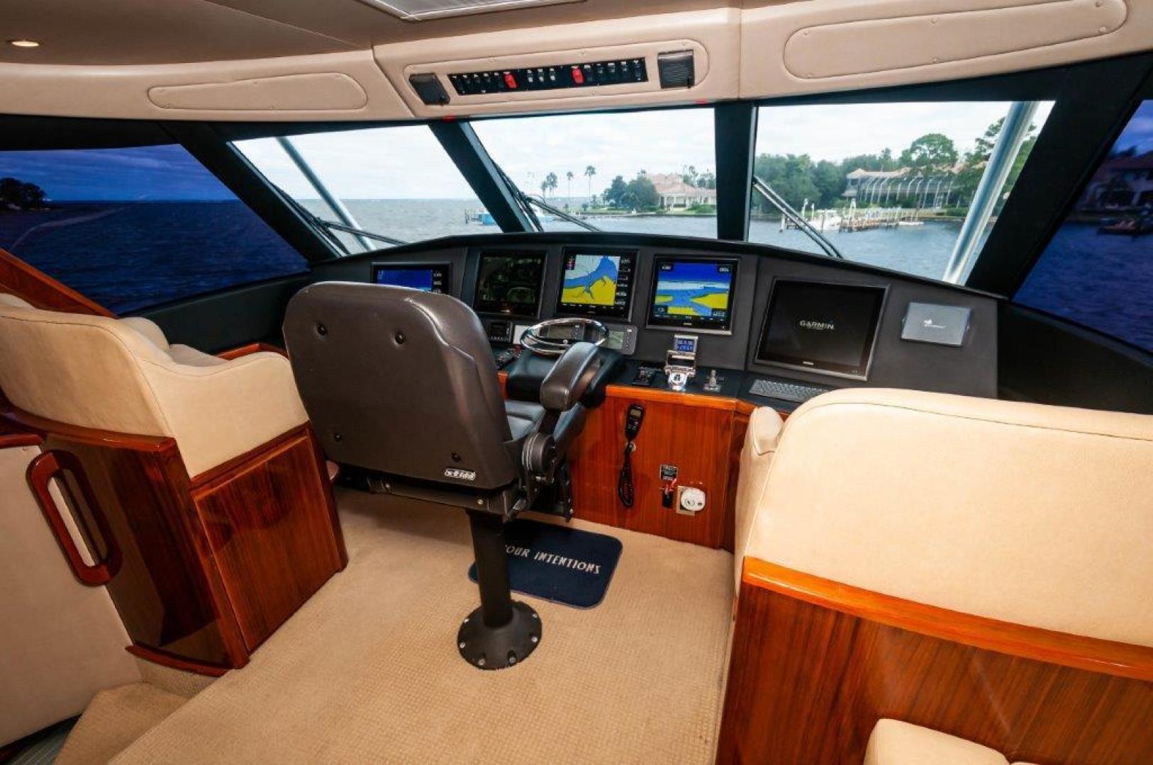 Viking-66 Enclosed Bridge 2014-Pour Intentions destin-Florida-United States-2014 66 Viking Helm (2)-1542220   Thumbnail