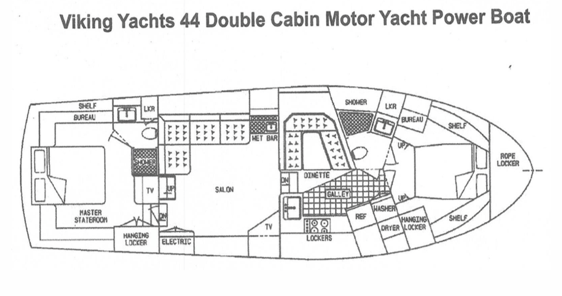 Viking-44 Double Cabin 1990-Never Mind Cape Coral-Florida-United States-Layout-1536519   Thumbnail
