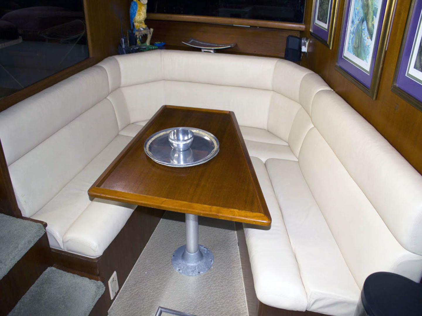 Viking-44 Double Cabin 1990-Never Mind Cape Coral-Florida-United States-Dinette-1518218   Thumbnail