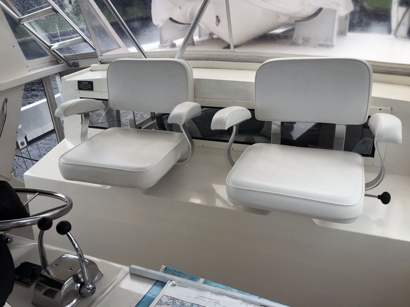 Viking-44 Double Cabin 1990-Never Mind Cape Coral-Florida-United States-Helm Seats-1518227   Thumbnail