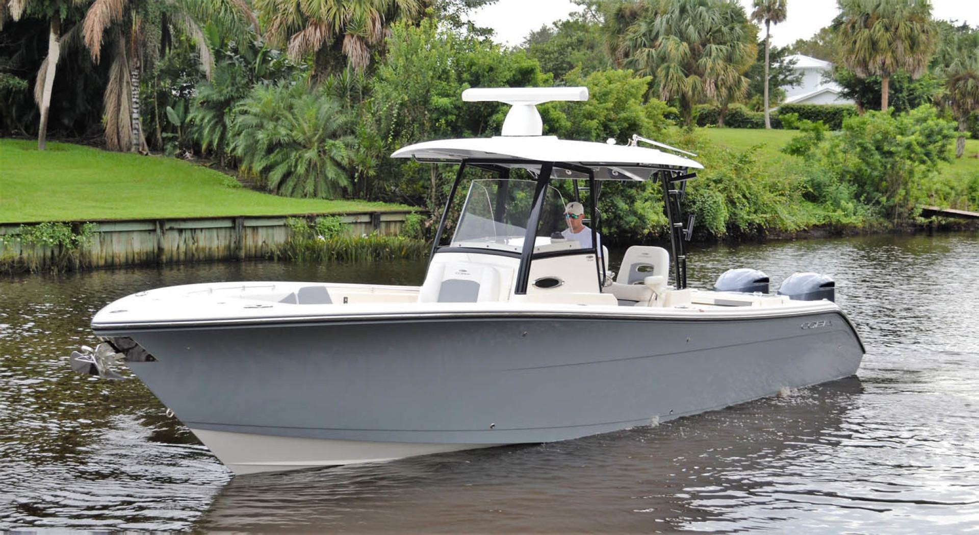 Cobia-320 CC 2019-Pivoting Palm City-Florida-United States-Port Bow-1534001 | Thumbnail