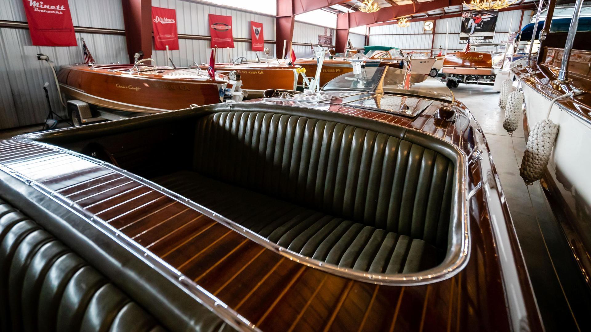 Antique-Minett Sheilds Triple Cockpit Runabout 1936-Regoda Clayton-New York-United States-1536189 | Thumbnail