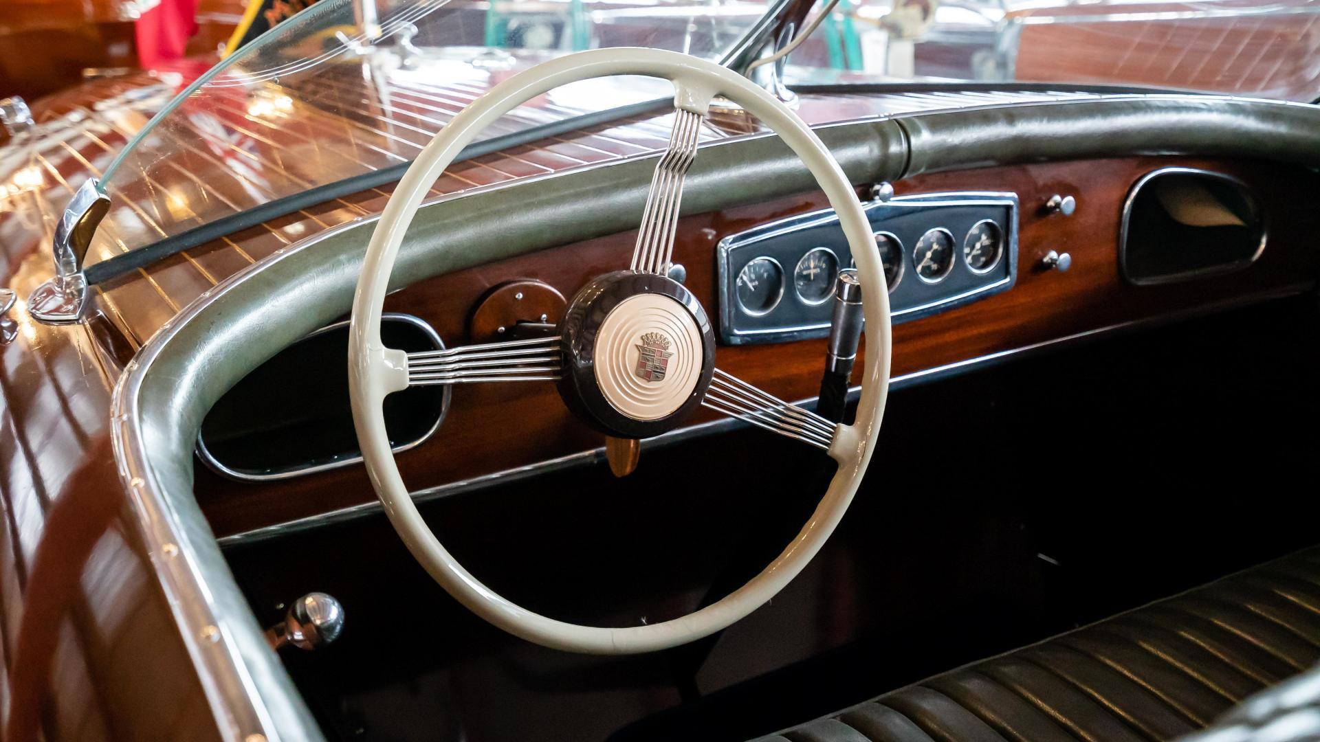 Antique-Minett Sheilds Triple Cockpit Runabout 1936-Regoda Clayton-New York-United States-1536182 | Thumbnail