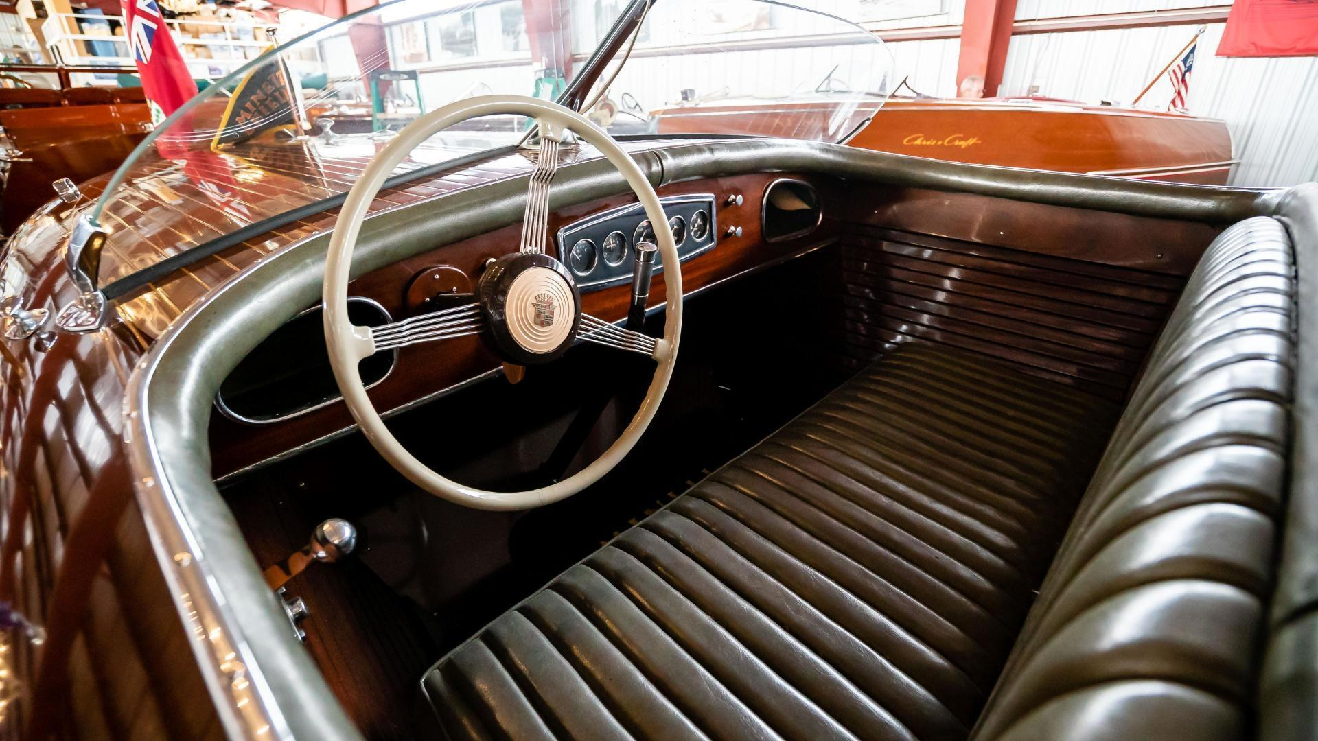 Antique-Minett Sheilds Triple Cockpit Runabout 1936-Regoda Clayton-New York-United States-1536181 | Thumbnail