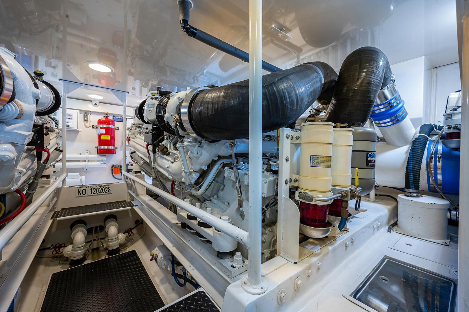 Viking-Convertible 2007-Scoped Out Lighthouse Point-Florida-United States-Engine Room-1552151 | Thumbnail