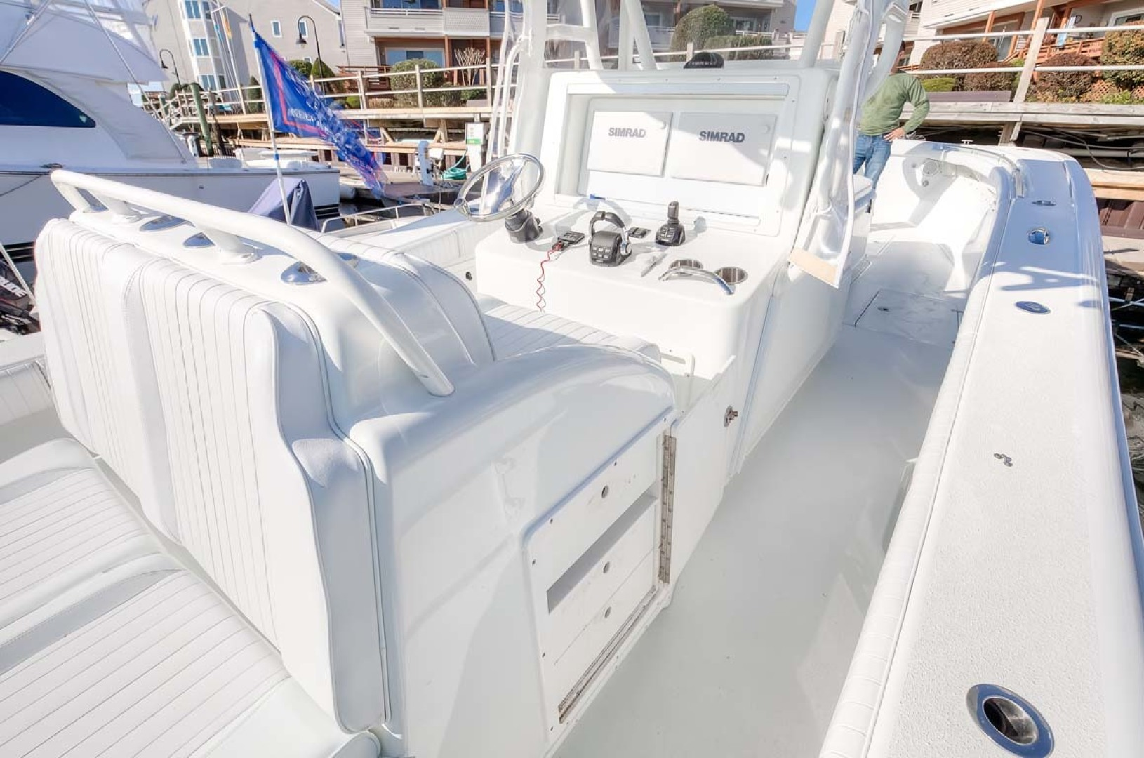Yellowfin-Center Console 2009-Clean Sweep Cape May-New Jersey-United States-Helm Seat and Rear Facing Seats-1538552 | Thumbnail