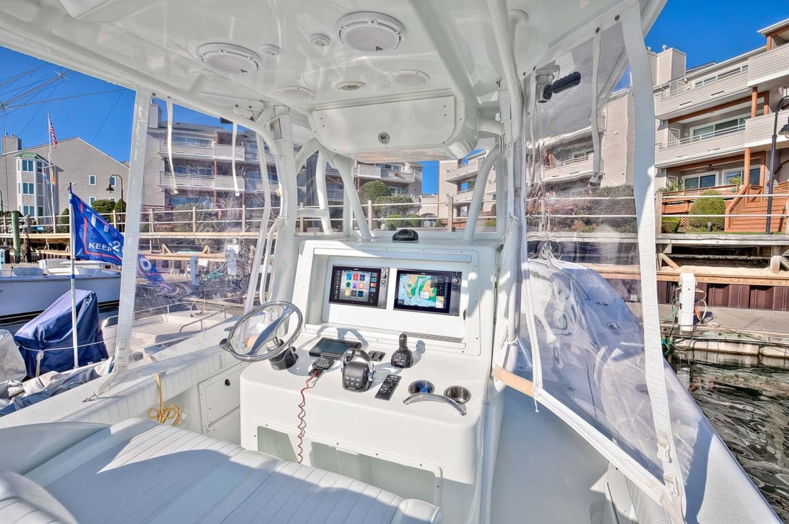 Yellowfin-Center Console 2009-Clean Sweep Cape May-New Jersey-United States-Helm and White Coated Hardtop-1538551 | Thumbnail