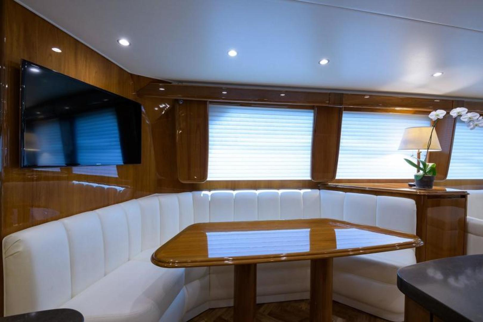 Viking-76 Enclosed Bridge 2014-OSH IT Fort Lauderdale-Florida-United States-Dinette-1539872 | Thumbnail