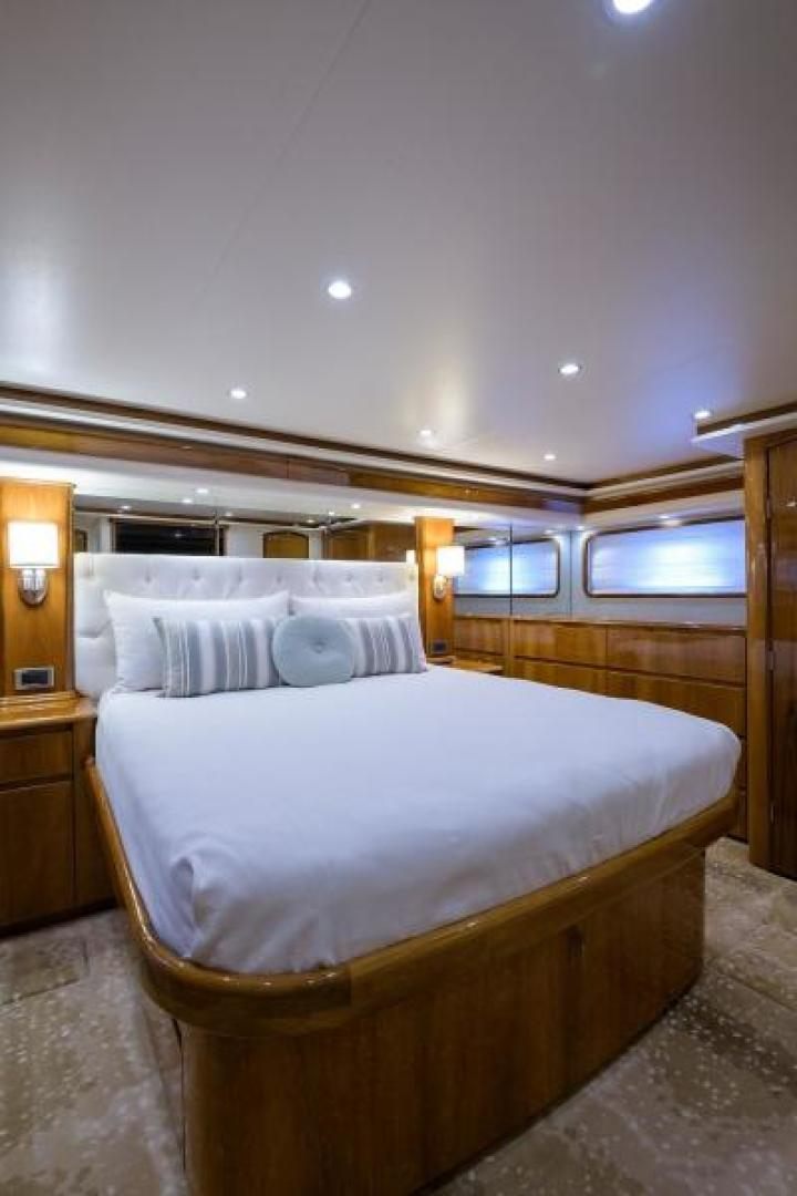 Viking-76 Enclosed Bridge 2014-OSH IT Fort Lauderdale-Florida-United States-Master Stateroom-1539903 | Thumbnail