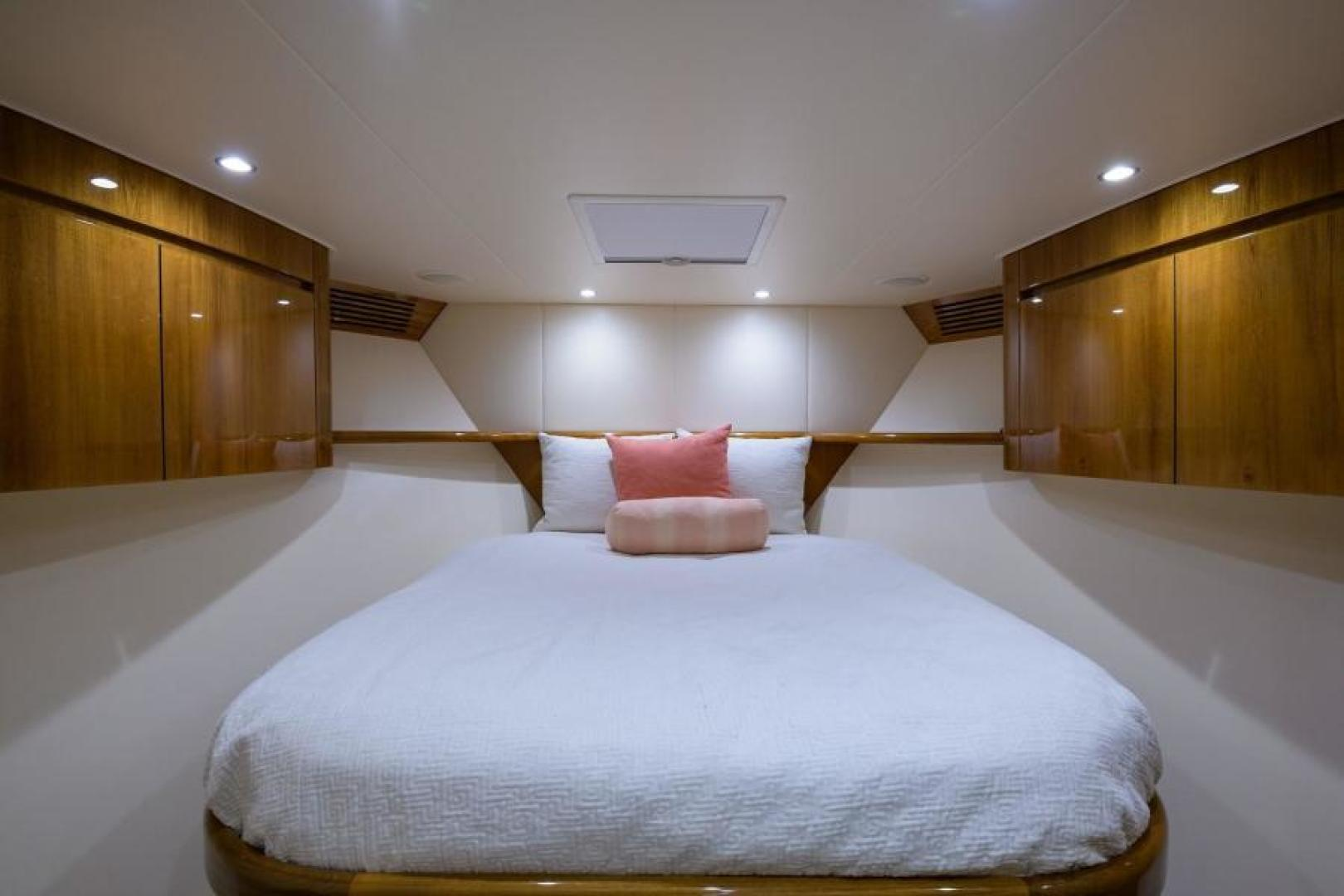 Viking-76 Enclosed Bridge 2014-OSH IT Fort Lauderdale-Florida-United States-Forward Stateroom-1539889 | Thumbnail