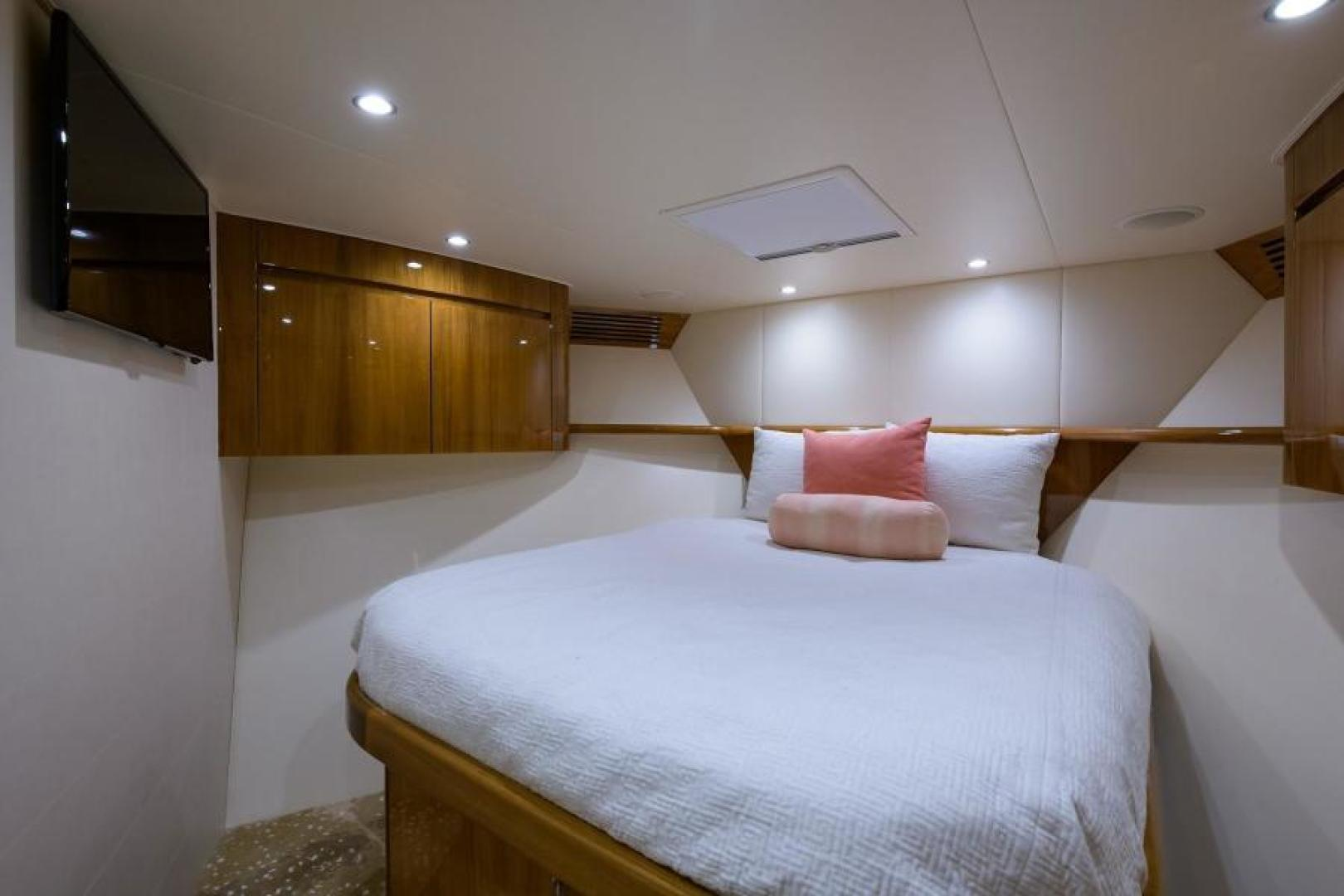 Viking-76 Enclosed Bridge 2014-OSH IT Fort Lauderdale-Florida-United States-Forward Stateroom-1539890 | Thumbnail