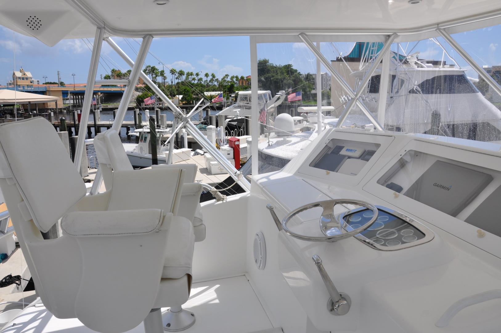 Viking-Convertible 2003-Reel Cowboy Deerfield Beach-Florida-United States-Flybridge/Helm Station-1546879 | Thumbnail