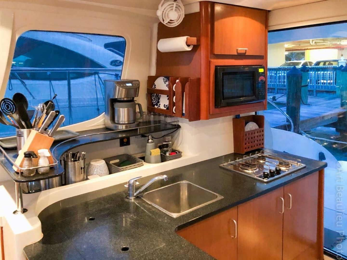 Leopard-37 PC 2008-Even Keel Cocoa Beach-Florida-United States-Galley To Starboard-1546901 | Thumbnail