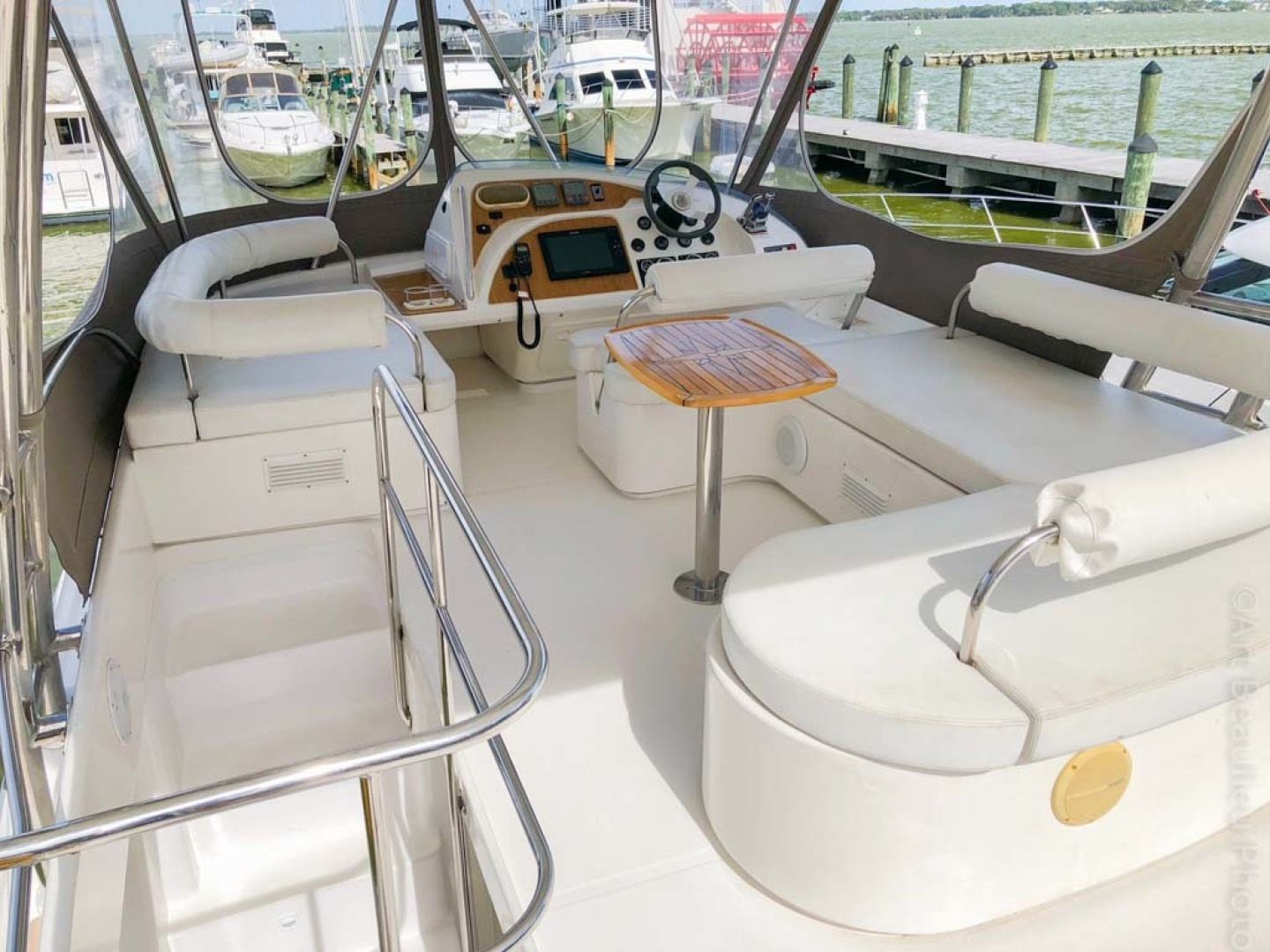 Leopard-37 PC 2008-Even Keel Cocoa Beach-Florida-United States-Flybridge Seating With Custom Table-1546920 | Thumbnail