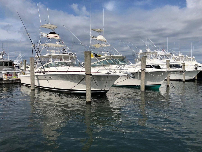Riviera-4000 Express 2001-Shady Lady Hampton Bays-New York-United States-Starboard Bow Profile At Dock-1547585 | Thumbnail