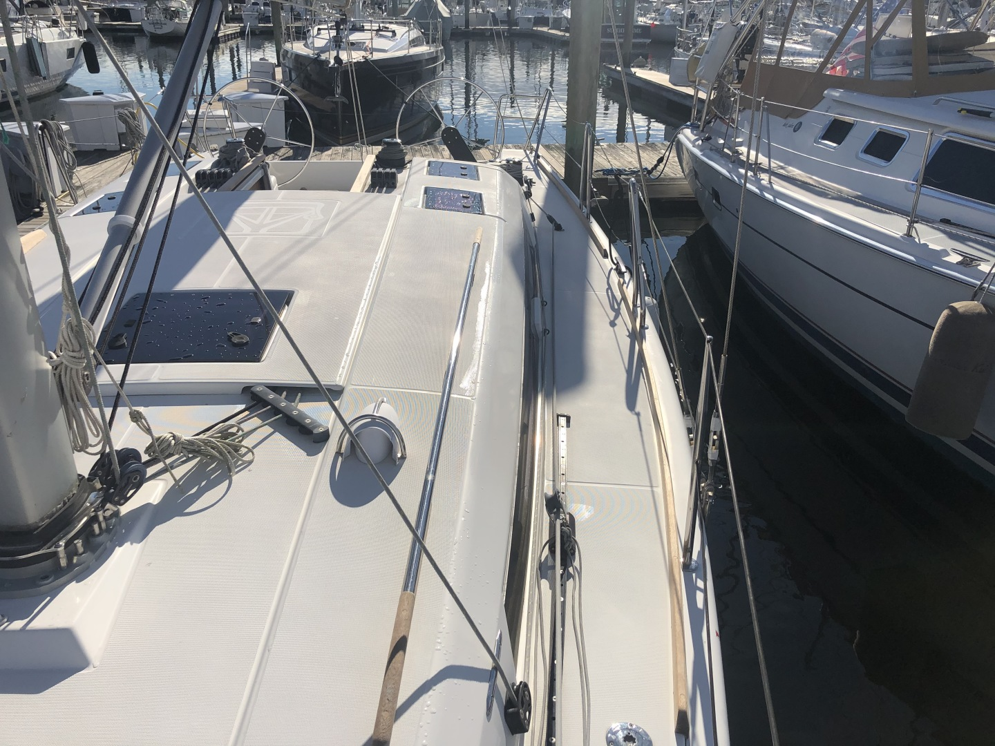 Dufour-36 P 2014 -Portsmouth-Rhode Island-United States-Port Side Deck-1551072 | Thumbnail