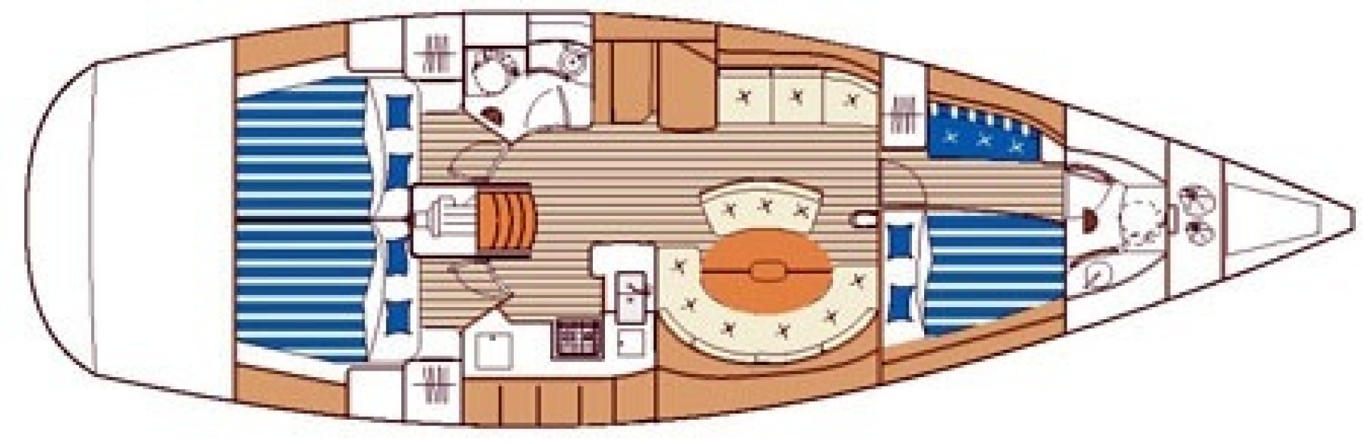Beneteau-First 47.7 2004 -Portsmouth-Rhode Island-United States-Layout-1551498 | Thumbnail