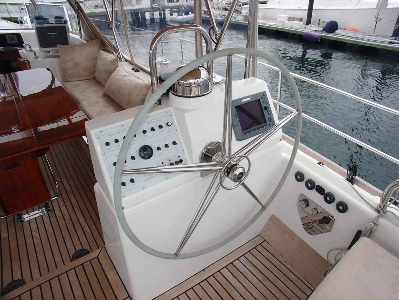 Hylas-70 Centerboard Cruiser 2007-AMANTE Barcelona-Spain-Steering Station, Stainless Wheel-1555668   Thumbnail