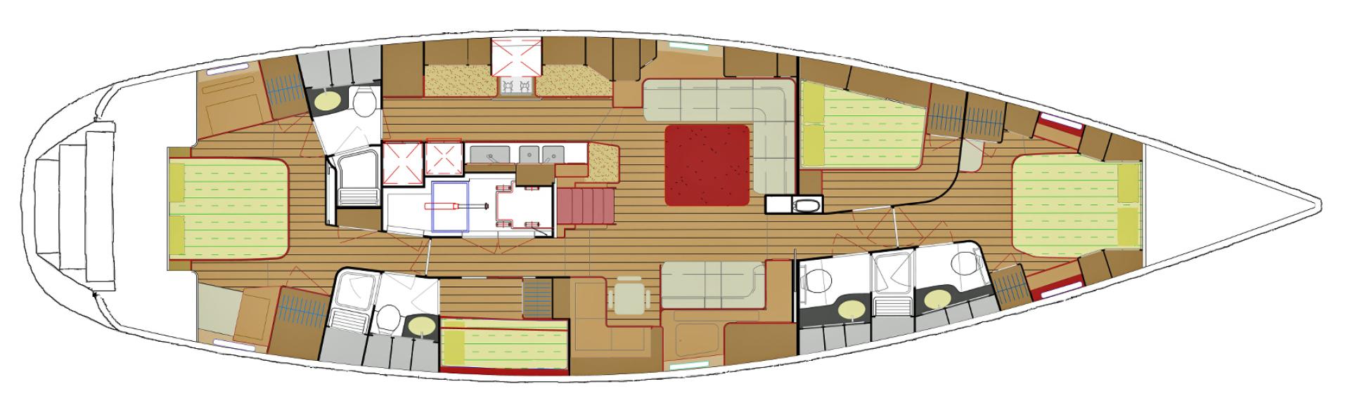 Hylas-70 Centerboard Cruiser 2007-AMANTE Barcelona-Spain-Layout-1555648   Thumbnail