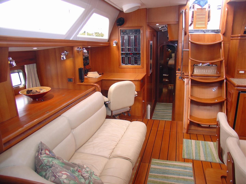 Hylas-70 Centerboard Cruiser 2007-AMANTE Barcelona-Spain-Starboard Salon, Looking Aft-1555664   Thumbnail