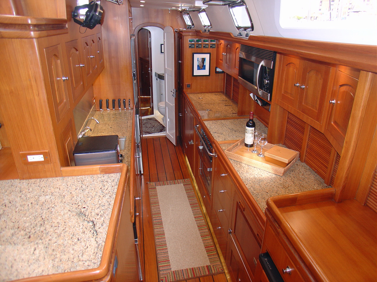 Hylas-70 Centerboard Cruiser 2007-AMANTE Barcelona-Spain-Galley Looking Aft-1555644   Thumbnail