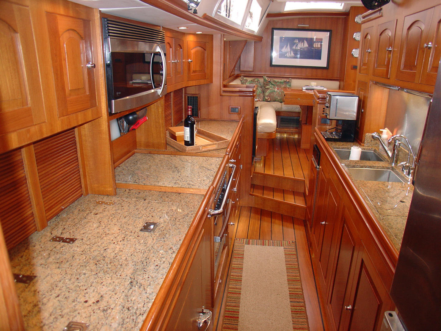 Hylas-70 Centerboard Cruiser 2007-AMANTE Barcelona-Spain-Galley Looking Fwd.-1555645   Thumbnail