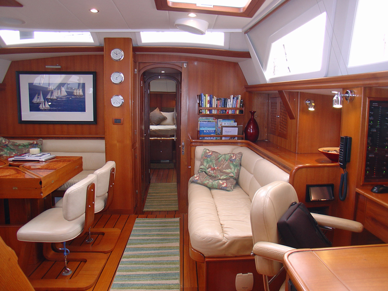 Hylas-70 Centerboard Cruiser 2007-AMANTE Barcelona-Spain-Starboard Salon, Looking Fwd.-1555665   Thumbnail