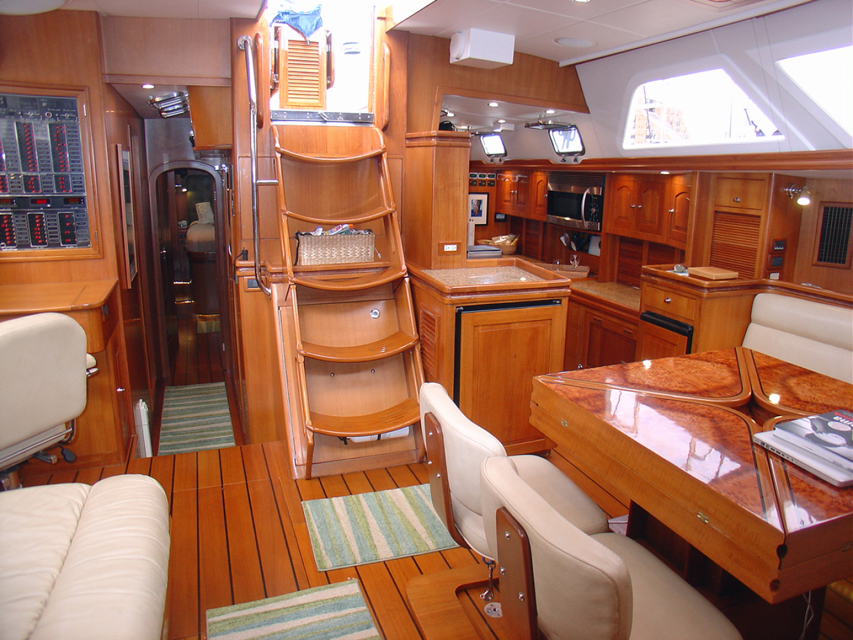 Hylas-70 Centerboard Cruiser 2007-AMANTE Barcelona-Spain-Salon, Looking Aft-1555663   Thumbnail