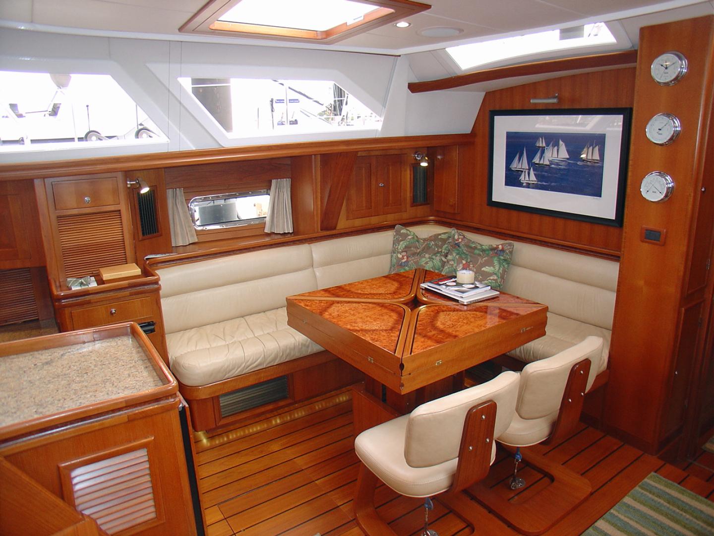Hylas-70 Centerboard Cruiser 2007-AMANTE Barcelona-Spain-Port Salon Table, Closed-1555660   Thumbnail