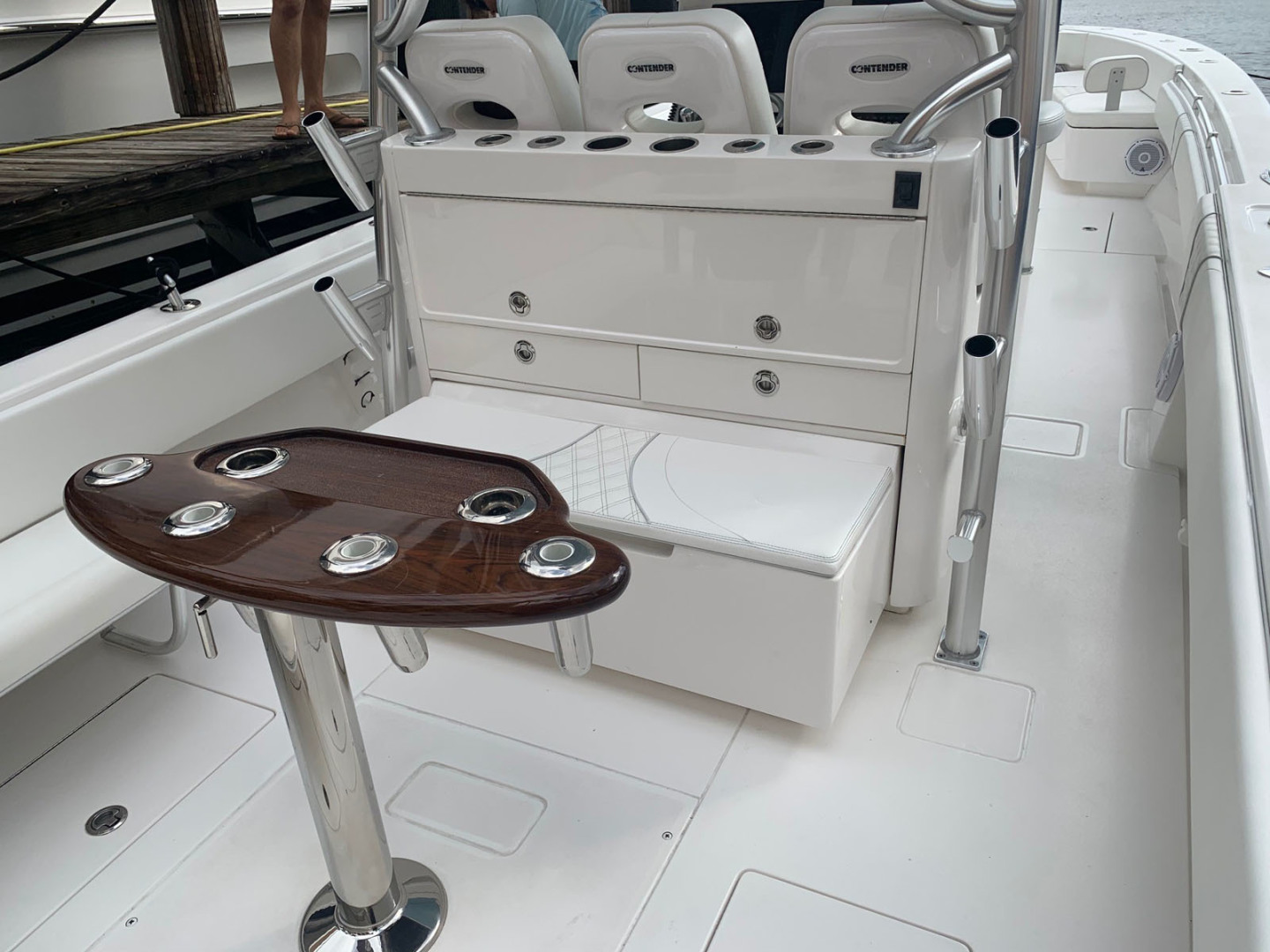 Contender-39 Step Hull w/SeaKeeper 2019-T/T Double Barrel Name Reserved Boca Raton-Florida-United States-Storage Locker with Slide Out Cooler-1558949   Thumbnail