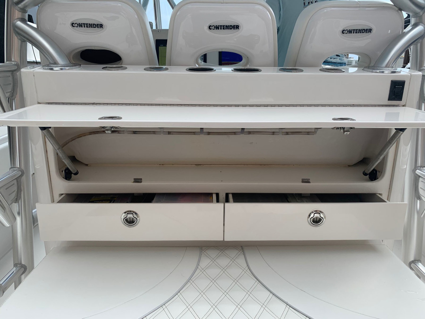 Contender-39 Step Hull w/SeaKeeper 2019-T/T Double Barrel Name Reserved Boca Raton-Florida-United States-Storage Locker with Tackle Drawers-1558950   Thumbnail
