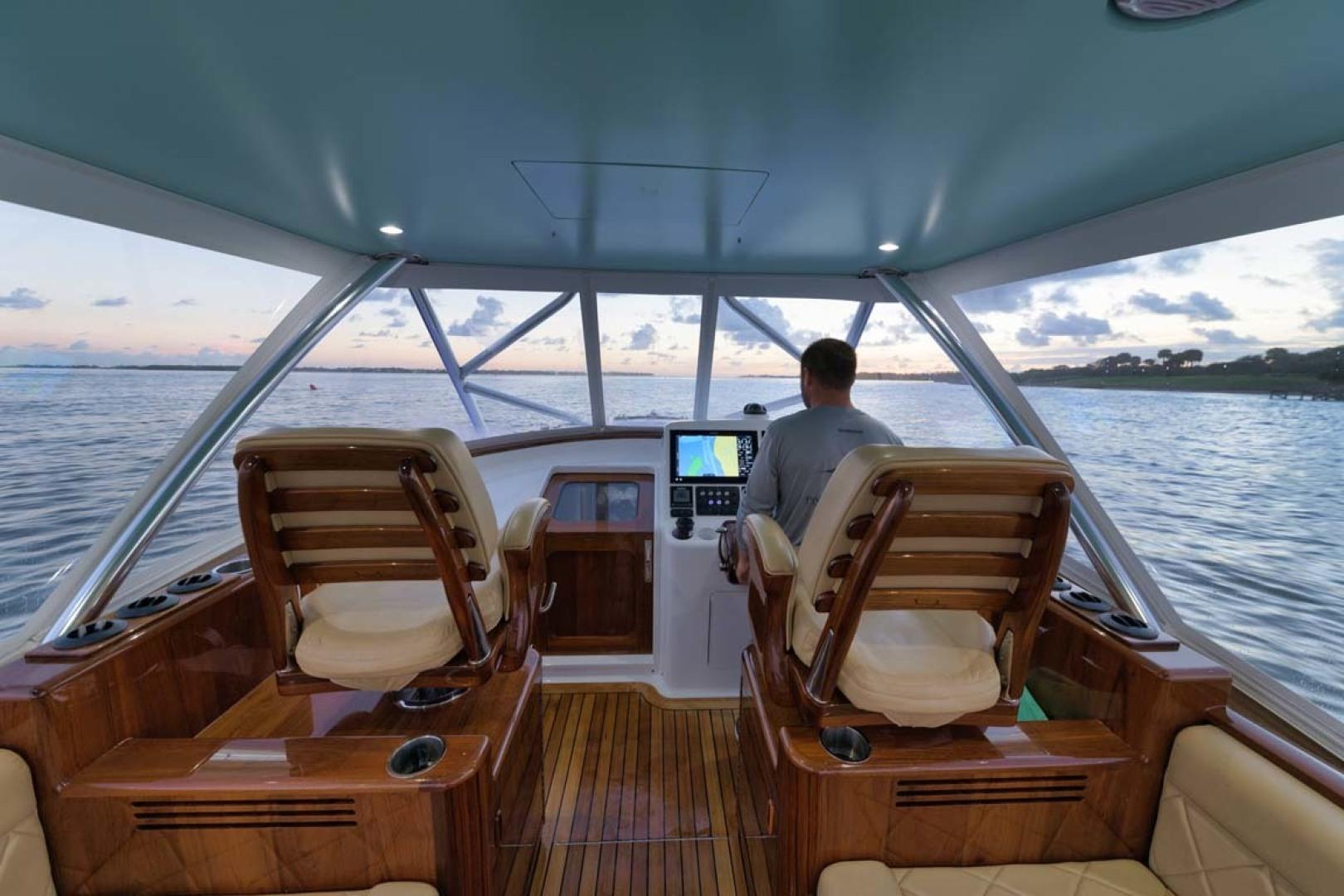 Winter Custom Yachts-46 Walkaround 2019-Family Circus Stuart-Florida-United States-Release Marine Teak Ladder Back Helm and Companion Seats-1563755 | Thumbnail