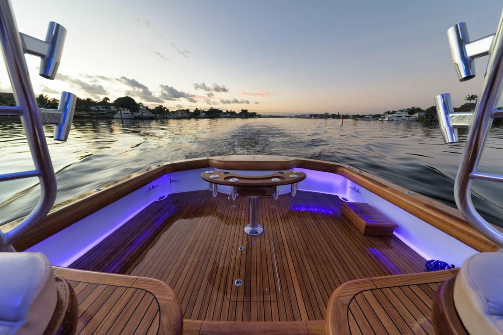 Winter Custom Yachts-46 Walkaround 2019-Family Circus Stuart-Florida-United States-Cockpit with Night Lighting-1563781 | Thumbnail