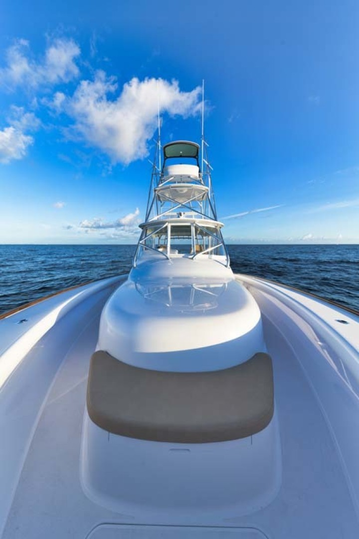 Winter Custom Yachts-46 Walkaround 2019-Family Circus Stuart-Florida-United States-Ultra-Leather Bow Seating with Storage Below-1563729 | Thumbnail