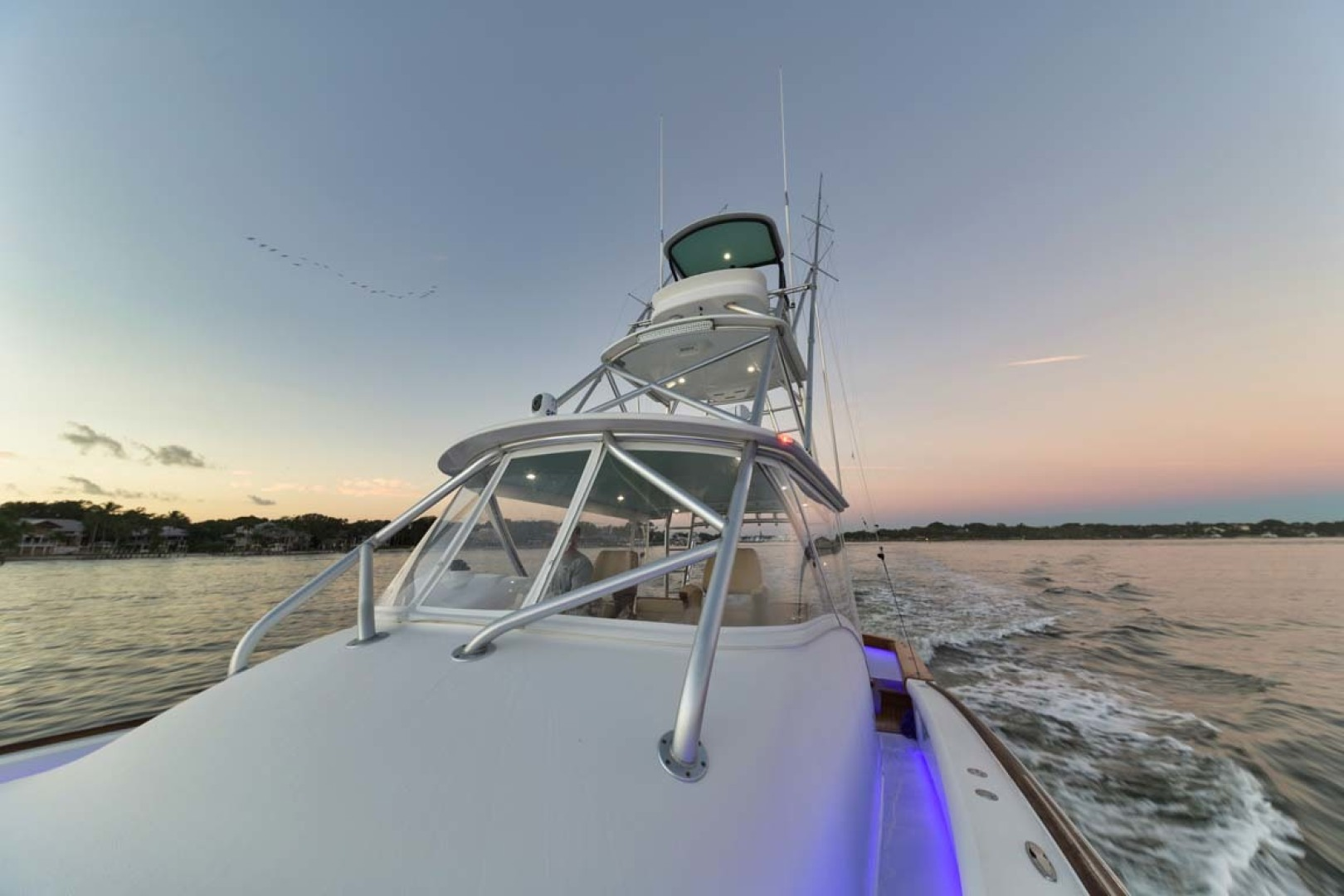 Winter Custom Yachts-46 Walkaround 2019-Family Circus Stuart-Florida-United States-Port Side Deck with Lighting-1563733 | Thumbnail